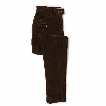 T.ba Ladies Stretch Corduroy Breeches in Forest