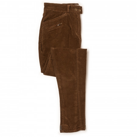 T.ba Ladies Stretch Corduroy Breeches in Caramel