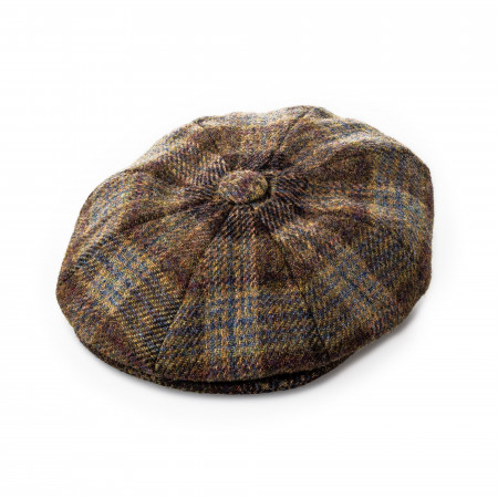 Redford Tweed cap in Highland Brown
