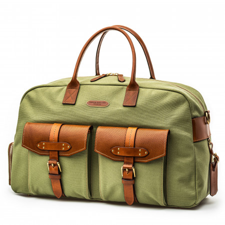 Bournbrook 48HR Bag in Safari Green and Mid Tan