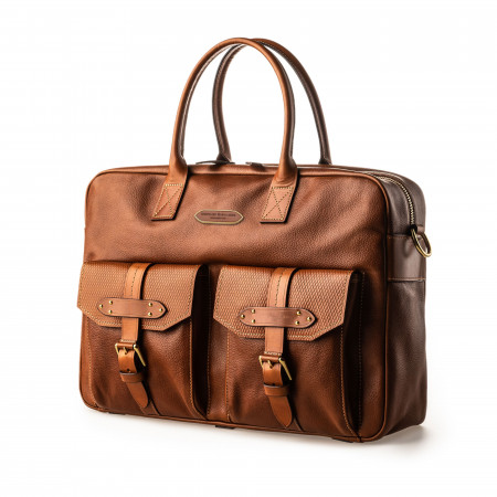 Westley Richards Bournbrook Briefcase in Mid Tan
