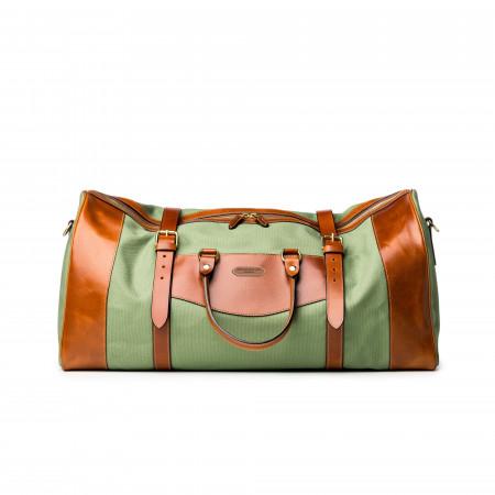 Large Sutherland Bag in Safari Green and Mid Tan