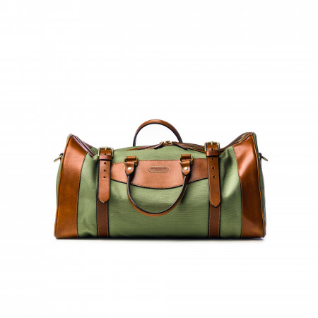 Medium Sutherland Bag in Safari Green and Mid Tan