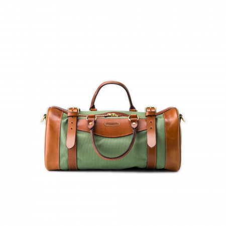 Westley Richards Small Sutherland Bag in Safari Green & Mid Tan
