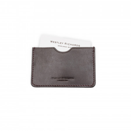 Westley Richards Business Card Holder in Dark Tan
