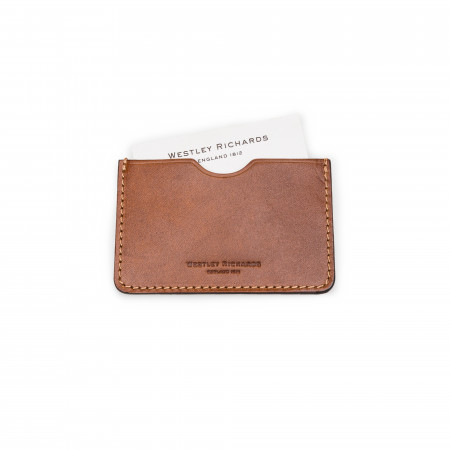 Westley Richards Business Card Holder in Mid Tan