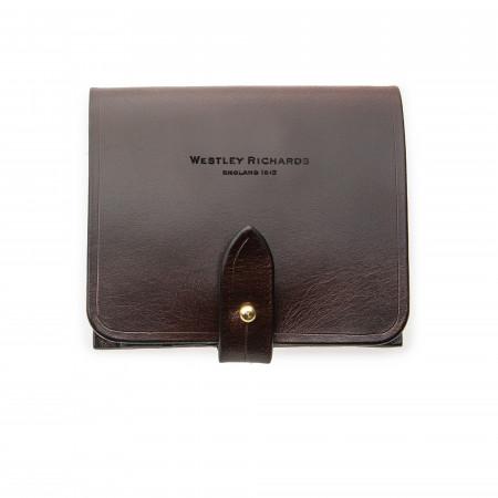 Westley Richards  XL 5Rd Closed Ammunition Belt Wallet in Dark Tan