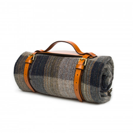 Westley Richards Wool Travel Blanket in Black Stone