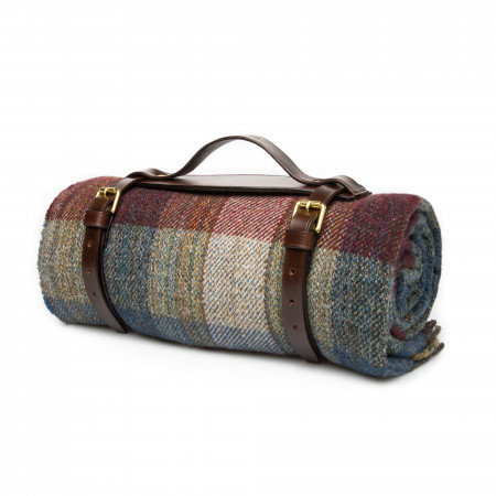 Westley Richards Wool Travel Blanket in Sky Berry