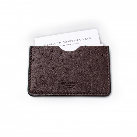 Business Card Holder - Ostrich