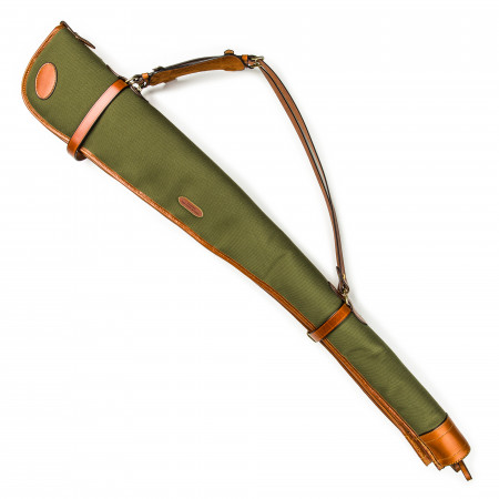 Westley Richards Pair of Deeley Shotgun Slip in Hunter Green & Mid Tan