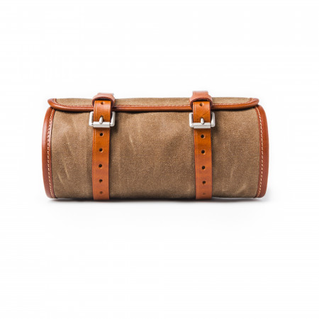Tool Roll in Waxed Cotton Sand