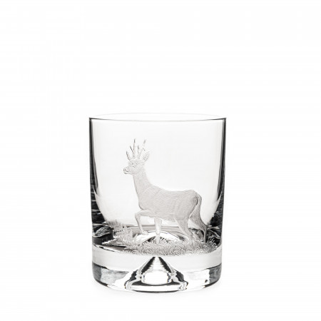 Hand Engraved Crystal Glass - Roebuck