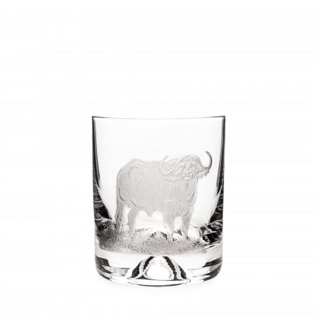 Hand Engraved Crystal Glass - Buffalo