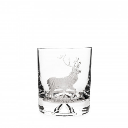 Westley Richards Hand Engraved Crystal Glass - Stag