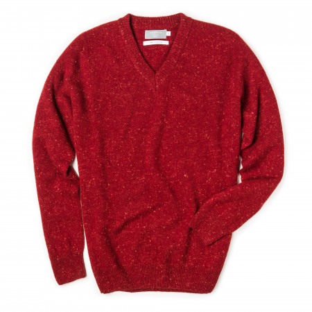 Westley Richards Rora Cashmere V neck Sweater - Rage