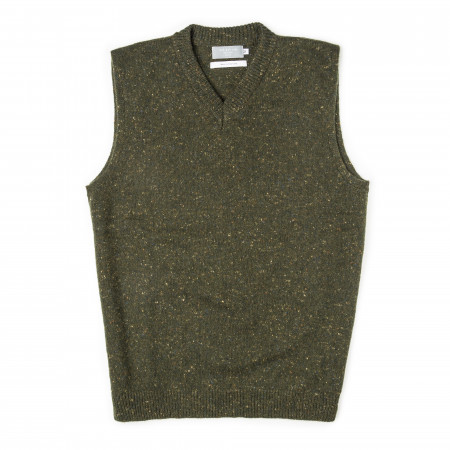 Westley Richards Stirling Cashmere Slip over - Loden