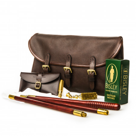 Westley Richards Redfern Cleaning Pouch with Accessories in Dark Tan