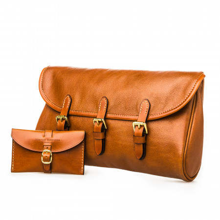 Westley Richards Redfern Cleaning Pouch in Mid Tan