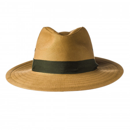 Safari Hat with Green Herringbone Band