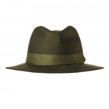 Hunting Hat with Green Herringbone Band