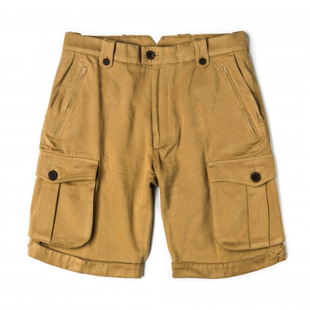Safari Shorts in Brushed Beige