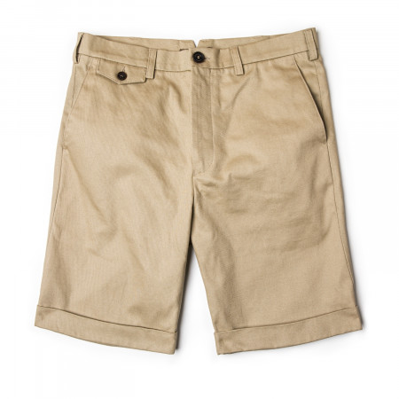 Westley Richards Pathfinder Twill Shorts in Stone