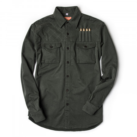 Westley Richards The Expedition Shirt in Brushed Bush Green