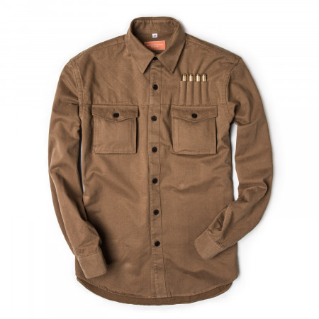 Westley Richards The Expedition Shirt in Brushed Fawn