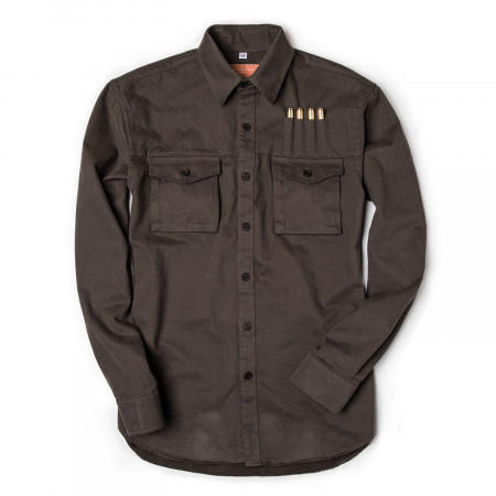 Westley Richards The Expedition Shirt in Brushed Bark