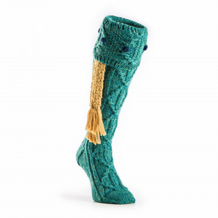 Brigands Shooting Sock in Teal Green