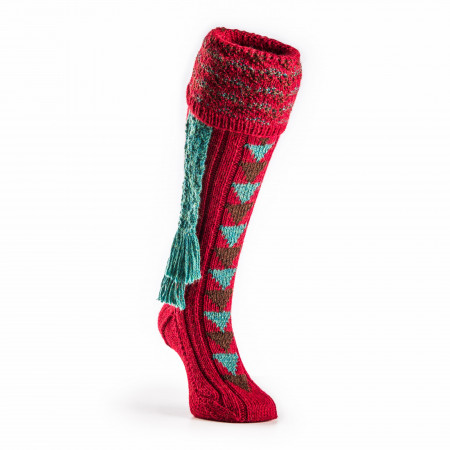 Westley Richards Whitfield Shooting Sock in Crimson