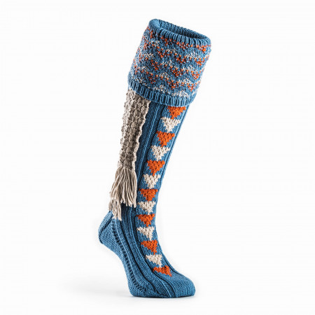 Whitfield Shooting Sock in Sky Blue