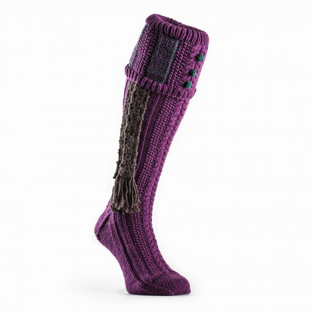 Vaynor Shooting Sock in Violet