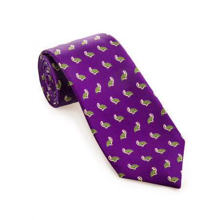 Westley Richards Silk Partridge Tie in Palace Purple