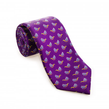 Westley Richards Silk Mallard Tie in Palace Purple