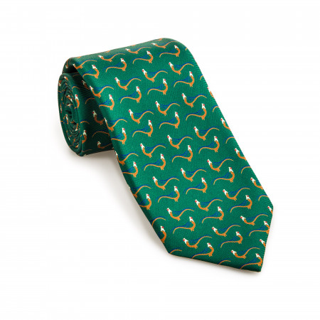 Silk Pheasant tie in Dark Green