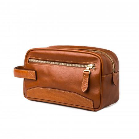 Westley Richards Bournbrook Wash Bag in Mid Tan