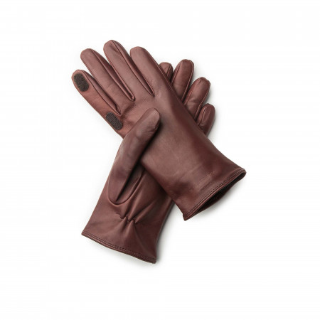 Ladies Leather Shooting Gloves in Tan
