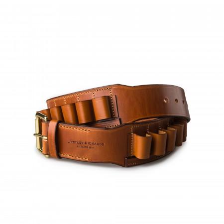 Westley Richards 12 Gauge Leather Cartridge Belt in Mid Tan