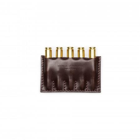 Westley Richards Open Ammunition Wallet in Dark Tan