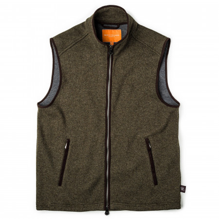 Lyell Fleece Gilet in Moss
