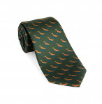 Silk Grouse tie in Highland Green
