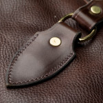 Pair of Deeley Shotgun Slip in Dark Tan Patterned
