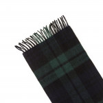 Pure Cashmere Scarf in Black Watch