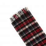 Pure Cashmere Scarf in Blanket Check Red