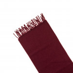 Pure Cashmere Scarf in Burgundy