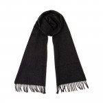 Pure Cashmere Scarf in Charcoal Grey