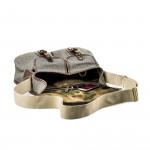 Bishop Bag in Swiss Army Salt & Pepper Fabric