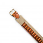 20 Gauge Canvas and Leather Cartridge Belt